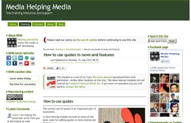 http://www.mediahelpingmedia.org/training-resources/journalism-basics/659-how-to-use-quotes-in-news-stories-and-features