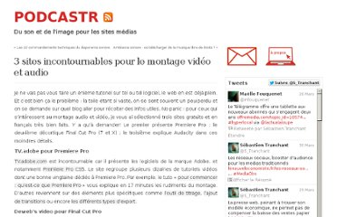 http://podcastr.sebastientranchant.fr/3-sites-incontournables-pour-le-montage-video-et-audio/