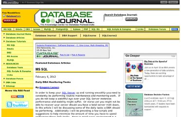 http://www.databasejournal.com/features/mssql/daily-dba-monitoring-tasks.html