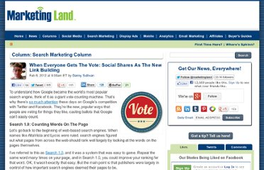 http://marketingland.com/when-everyone-gets-the-vote-social-shares-as-the-new-link-building-5497