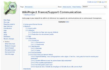 http://wiki.openstreetmap.org/wiki/WikiProject_France/Support_Communication