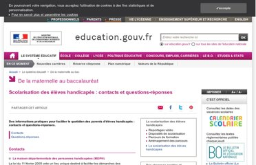 http://www.education.gouv.fr/cid2636/questions-reponses-2006.html