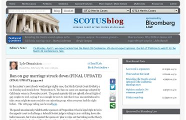 http://www.scotusblog.com/2012/02/ban-on-gay-marriage-struck-down/