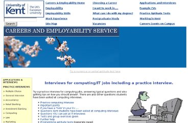 http://www.kent.ac.uk/careers/interviews/ivcomputing.htm