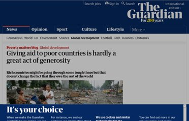 http://www.guardian.co.uk/global-development/poverty-matters/2011/jun/14/aid-is-hardly-an-act-of-great-generosity-effectiveness