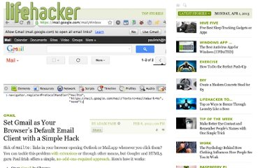 http://lifehacker.com/5883372/set-gmail-as-your-browsers-default-email-client-with-a-simple-hack