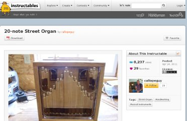http://www.instructables.com/id/20-note-Street-Organ/