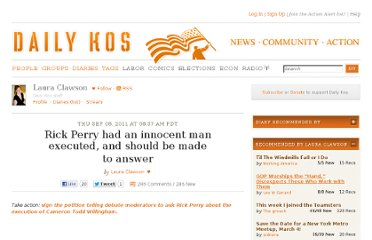 http://www.dailykos.com/story/2011/09/08/1014595/-Rick-Perry-had-an-innocent-man-executed-and-should-be-made-to-answer