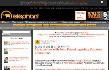 http://www.elephantjournal.com/2012/02/my-interview-with-john-friend-regarding-ijfexposedi-accusations/