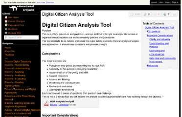 http://edorigami.wikispaces.com/Digital+Citizen+Analysis+Tool