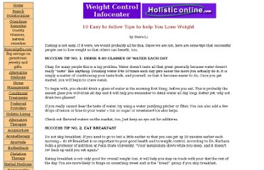 http://holisticonline.com/Remedies/weight/weight_10-easy-to-follow-tips.htm