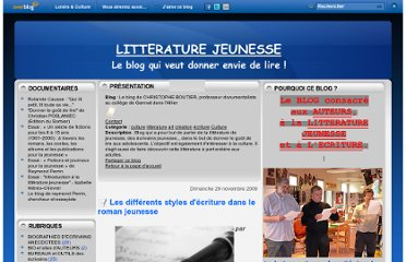 http://litterature.jeunesse.over-blog.com/article-les-differents-styles-d-ecriture-dans-le-roman-jeunesse-40231490.html