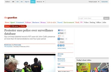 http://www.guardian.co.uk/uk/2012/feb/09/protester-sues-police-surveillance-database