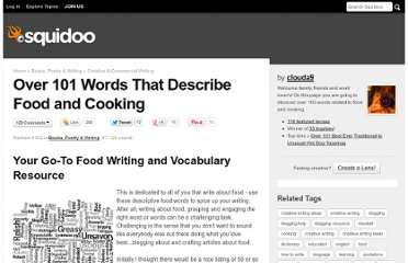http://www.squidoo.com/food-vocabulary