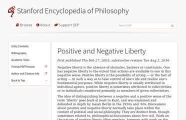 http://plato.stanford.edu/entries/liberty-positive-negative/