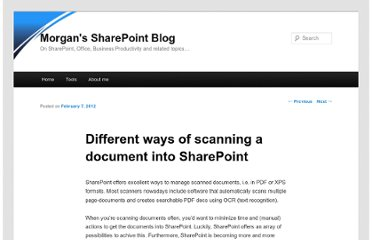 http://blog.morg.nl/2012/02/different-ways-of-scanning-a-document-into-sharepoint/