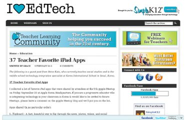 http://blog.simplek12.com/education/37-teacher-favorite-ipad-apps/