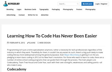 http://inspiredology.com/learning-how-to-code-has-never-been-easier/