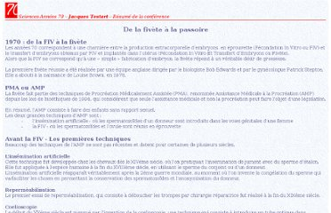http://www.teletoile.u-bordeaux2.fr/Sciences70/JT_html/JT_Resume.htm