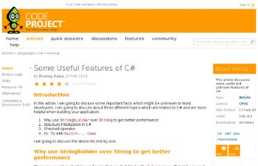 http://www.codeproject.com/Articles/158902/Some-Useful-Features-of-C