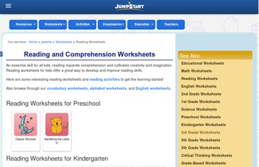 http://www.jumpstart.com/parents/worksheets/reading-worksheets