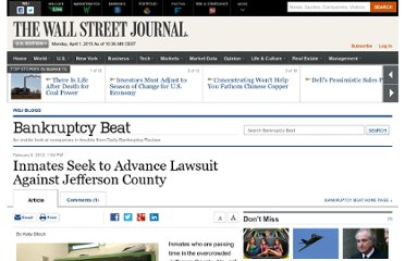 http://blogs.wsj.com/bankruptcy/2012/02/08/inmates-seek-to-advance-lawsuit-against-jefferson-county/