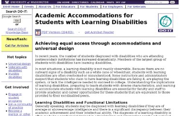 http://www.washington.edu/doit/Brochures/Academics/accomm_ld.html