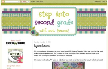 http://stepintosecondgrade.blogspot.com/2011/10/adjective-activities.html