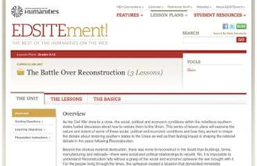 http://edsitement.neh.gov/curriculum-unit/battle-over-reconstruction