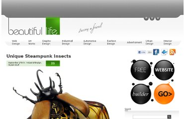 http://www.beautifullife.info/industrial-design/unique-steampunk-insects/