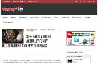 http://www.dzineblog360.com/2012/02/30-hardly-found-actually-funny-illustrations-and-tutorials/