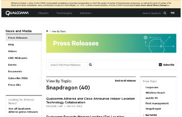 http://www.qualcomm.com/media/releases/tags/Snapdragon