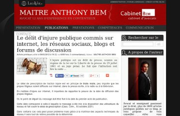 http://www.legavox.fr/blog/maitre-anthony-bem/delit-injure-publique-commis-internet-7692.htm