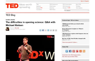 http://blog.ted.com/2012/02/09/q-a-with-michael-nielsen/