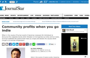 http://www.pjstar.com/business/x518437393/Community-profits-when-you-go-indie