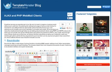 http://blog.templatemonster.com/2011/07/05/ajax-php-webmail-clients/