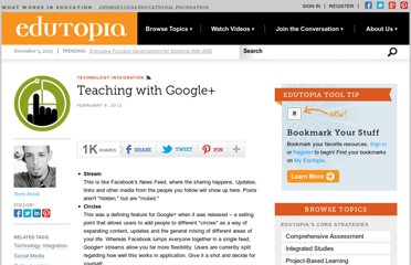 http://www.edutopia.org/blog/teaching-with-google-plus-terry-heick