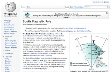 http://en.wikipedia.org/wiki/South_Magnetic_Pole