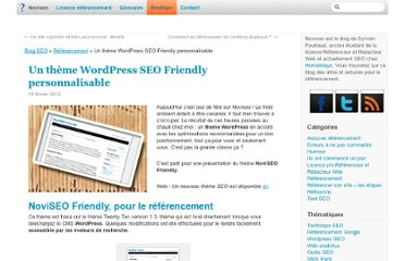 http://noviseo.fr/2012/02/un-theme-wordpress-seo-friendly-personnalisable/