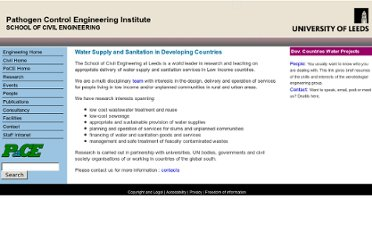 http://www.engineering.leeds.ac.uk/pace/research/WaterSupplyAndSanitationInDevelopingCountries/index.shtml