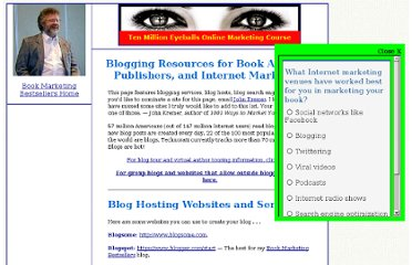 http://www.bookmarket.com/blogging.htm