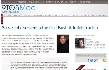 http://9to5mac.com/2012/02/10/steve-jobs-did-serve-in-the-first-bush-administration/