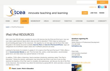 http://www.tcea.org/learn/ipadipod-resources