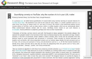 http://googleresearch.blogspot.com/2012/02/quantifying-comedy-on-youtube-why.html