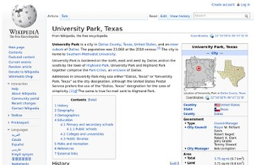 http://en.wikipedia.org/wiki/University_Park,_Texas