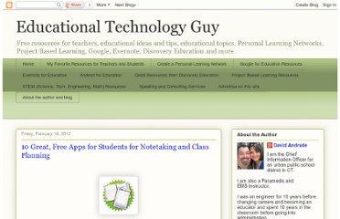http://educationaltechnologyguy.blogspot.com/2012/02/10-great-free-apps-for-students-for.html
