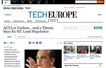 http://blogs.wsj.com/tech-europe/2012/02/10/acta-is-useless-and-a-threat-says-ex-eu-lead-negotiator/