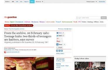 http://www.guardian.co.uk/theguardian/2012/feb/10/archive-1961-teenage-knitting