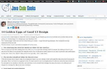 http://www.javacodegeeks.com/2012/02/14-golden-eggs-of-good-ui-design.html
