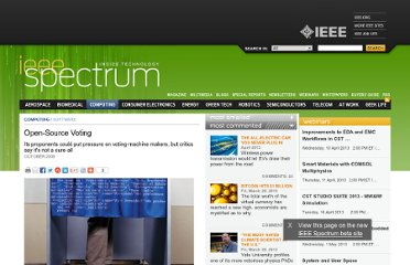 http://spectrum.ieee.org/computing/software/opensource-voting